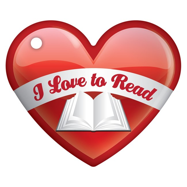Image result for i love to read month clipart